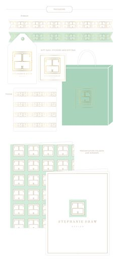 Branding Design for Interior Design Stephanie Shaw - Packaging Options