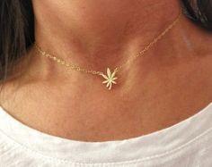 Cannabis charm necklace - marijuana necklace - 420 necklace - leaf necklace- weed necklace - gold-rose gold- silver -
