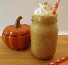 YES!!! Skinny Pumpkin Spice Frappe - A frozen blended coffee drink that is creamy, sweet and tastes just like pumpkin pie. Only 46 calories!! Yum! I love pumpkin!!!!!