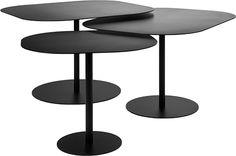 Table gigognes Galets : un noir satiné
