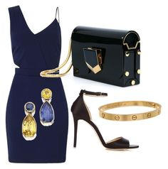"""""""Untitled #205"""" by tunnufn on Polyvore featuring Miss Selfridge, Jimmy Choo and Cartier"""