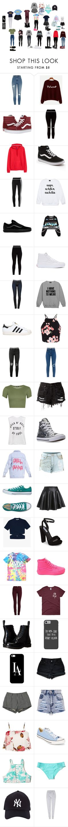 """""""PAKING #1"""" by emmalovesbooks2 ❤ liked on Polyvore featuring River Island, Vans, New Look, H&M, Y-3, WithChic, J Brand, adidas, AMIRI and WearAll"""