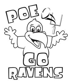 baltimore ravens ravenstown kids coloring downloads