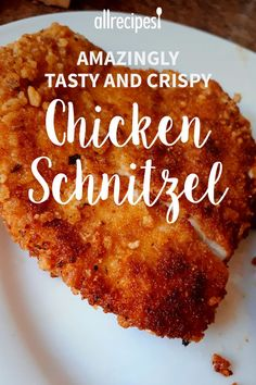 Tasty and Crispy Chicken Schnitzel Tasty and easy to make. Kids love it and you all will want more! Amazingly Tasty and Crispy Chicken Schnitzel Amazingly Tasty and Crispy Chicken Schnitzel Baked Chicken Recipes, Turkey Recipes, Meat Recipes, Cooking Recipes, Amazing Chicken Recipes, Thin Chicken Cutlet Recipes, German Food Recipes, Cake Recipes, Recipies