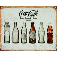 There's something special about coca-cola and there's also something very retro about tin signs. Add coca-cola and tin signs together and you have something that adds a certain je ne sais pas to your home decor. Coca Cola Vintage, Pub Vintage, Vintage Tin Signs, Style Vintage, Vintage Posters, Retro Style, Vintage Decor, Vintage Inspired, Coca Cola Poster
