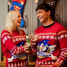 Official Classic Sonic Christmas Jumper / Ugly Sweater | Free UK Delivery | Yellow Bulldog