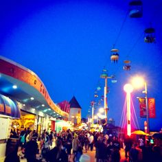 santa cruz boardwalk - summer nights!