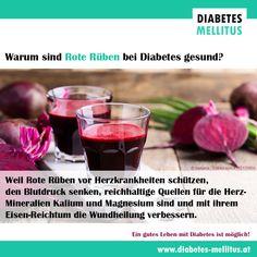 Rote Rüben sind auch für Diabetiker gesund! Aufgrund ihres Fruchtzuckergehalts zwar nicht jeden Tag, aber immer wieder zum Beispiel 1 Mal pro Woche! Red Wine, Alcoholic Drinks, Food, Lower Blood Pressure, Heart Disease, Wound Healing, Diabetic Living, Health, Alcoholic Beverages
