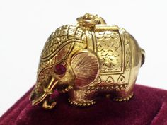 Elephant Perfume Locket Rare Vintage Perfume by LoveLockets