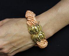 1stdibs.com | Tiffany & Co. Coral Beaded Bracelet