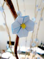 origami cherry blossoms.