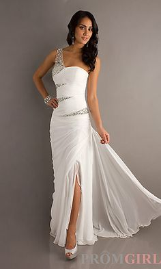 One Shoulder Prom Gown by Bari Jay at PromGirl.com