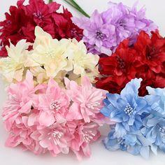 6pieces 5cm Artificial orchid Flowers Bouquet,silk lily flower For Wedding Wreath Scrapbooking Decoration