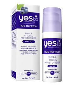 Yes to Blueberries Daily Facial Moisturizer ($15.79).  Best Organic Beauty Products For Summer Skincare Routine.