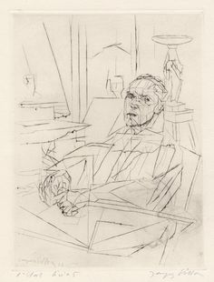 Jacques Villon Reproduction Elderly Couple Fine Art Print