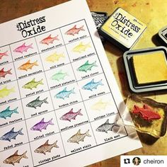 Print yours out today at www.rangerink.com/organize-your-Ranger-products! #rangerink #distressoxide #Repost @cheiron (@get_repost) ・・・ Thanks @ranger_ink for making it so easy to organize my new Distress Oxides! Your printable color charts make it SUPER easy! #timholtz #rangerink #distressoxide #craftroomorganization