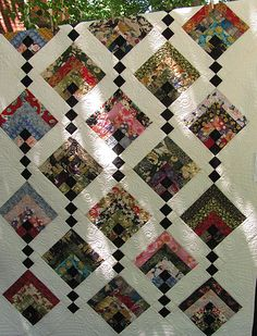 braid quilt, log cabin variation in Asian fabrics, 2012 quilt show photo by American School Girls Quilt