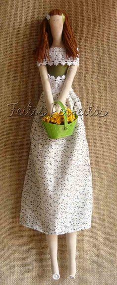 Boneca Tilda Camponesa | Feitos Perfeitos | Elo7