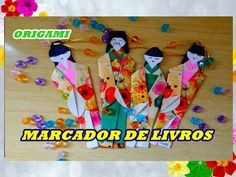 ORIGAMI GUEIXA  MARCADOR DE LIVROS