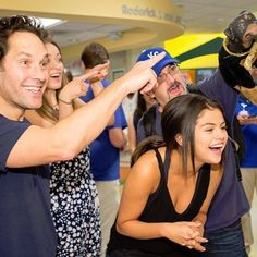 #BigSlickKC #TBT: You know you're funny when you can make Paul Rudd, Olivia Wilde AND Selena Gomez laugh this hard...