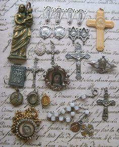 Antique French Religious collection - your can find things like this at Paris flea markets.