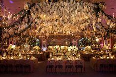 Floral Reception Space  Photography: Christian Oth Studio Read More: http://www.insideweddings.com/weddings/glamorous-indoor-garden-wedding-in-new-york-city/551/