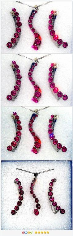 Climber Earrings and Magenta Crystal Journey Pendant set  50% OFF #EBAY http://stores.ebay.com/JEWELRY-AND-GIFTS-BY-ALICE-AND-ANN