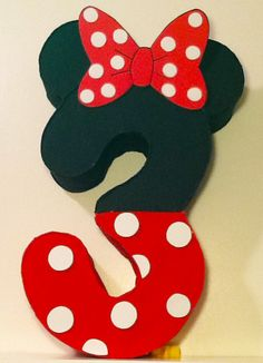 Minnie mouse Number Pinata minnie mouse Party by aldimyshop Minnie Mouse Pinata, Minnie Mouse Birthday Theme, Theme Mickey, Fiesta Mickey Mouse, Red Minnie Mouse, 3rd Birthday, Minnie Mouse Party Decorations, Mouse Parties, Etsy