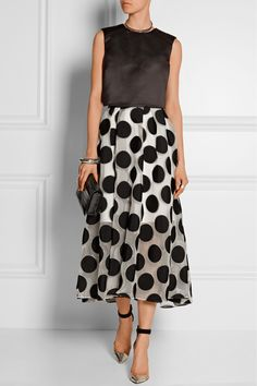 lela rose polka dot skirt