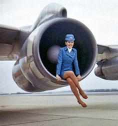 stewardess with engine - Google Search