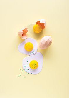 Paper Art / Paper Food / Dinette Magazine By 3d Paper Art, Paper Artwork, Paper Artist, Origami, Arts And Crafts, Diy Crafts For Kids, Easy Crafts, 3d Cuts, Food Sculpture