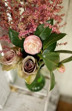 Heather (flower) arrangements | Celtic Countryside Irish Wedding Inspiration