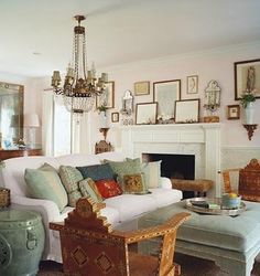 YESSSSS!  Finally a living room where the fireplace is NOT the focal point, but rather an accent in the room!