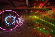 Three dimensional light painting: street art become digital art