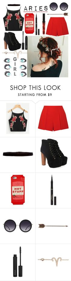 """Aries♈"" by unicornpotter ❤ liked on Polyvore featuring Alice + Olivia, Steve Madden, Jeffrey Campbell, Kate Spade, L'Oréal Paris and Creative Co-op"