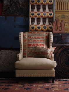 Beatles chairs by Andrew Martin. And this is definitely going in my future house.