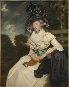 Mrs. Lewis Thomas Watson (Mary Elizabeth Milles, 1767–1818)  Sir Joshua Reynolds (English, Plympton 1723–1792 London)  Date: 1789 Medium: Oil on canvas Dimensions: 50 x 40 in. (127 x 101.6 cm) Classification: Paintings Credit Line: Bequest of Mrs. Harry Payne Bingham, 1986 Accession Number: 1987.47.2