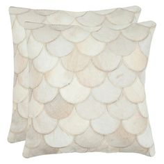 Ariel Cowhide Pillow, DIY with reclaimed leather or suede? Gonna give it a try.
