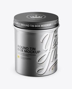 Metallic Round Box Mockup - High-Angle Shot (Preview)