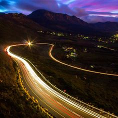 Long Exposure on Ou Kaapse Weg, Cape Town, Western Cape, South Africa
