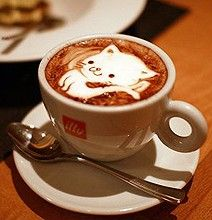 Awesome post by Diana Adams the BA of Bit Rebels. A combination of coffee and #Caturday! #Score