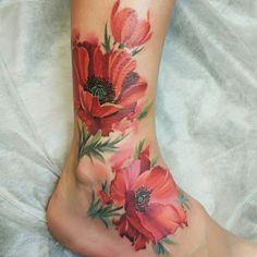 Leg Tattoos Women, Mom Tattoos, Body Art Tattoos, Sleeve Tattoos, Tattos, Pretty Tattoos, Beautiful Tattoos, Tattoo Mutter, Poppies Tattoo