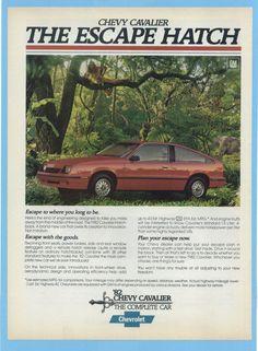 "Chevrolet Cavalier in ""The Toy"" Chevrolet Cavalier, Car Brochure, Car Advertising, Us Cars, Car Pictures, Vintage Advertisements, Vintage Cars, Chevy, Classic Cars"