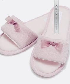 Shimmer slippers - OYSHO