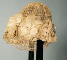 """Pizzo """"vaso di fiori"""" cappello, 1905-1910"""