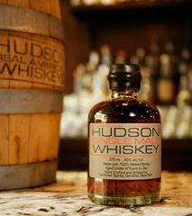 Hudson Single-Malt Whiskey is the first to be distilled in the Hudson Valley. We like inventing history and we love our whiskey. We start with 100% whole-ground malted barley and pot-distill it one small batch at a time in a converted granary at the historic Tuthilltown Gristmill. It's then aged in new small charred American oak casks and bottled at 92 proof, preserving its depth and character.