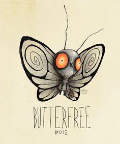 TimBurtonized Butterfree