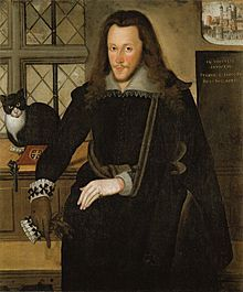 Henry Wriothesley, Third Earl of Southampton.(1573-1624). Went to Ireland with the Earl of Essex,  and was deeply involved with the Essex Rebellion of 1601, but Sir Robert Cecil obtained a commutation of the death sentence on his behalf. He took a considerable share in promoting the colonial enterprises in America particularly the Virginia Company, the East India Company and the New England Company. He was also a significant artistic patron in the Elizabethan and Jacobean periods