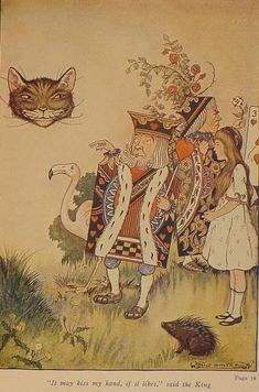 ALICE IN WONDERLAND:  Milo Winter illustration, 1916