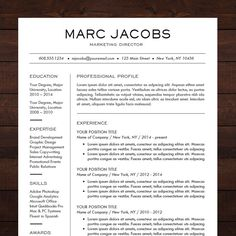 modern resume template cv template for pages word professional design free cover letter creative modern teacher the marc - Professional Resume Design